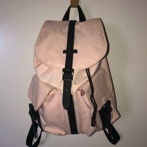 Herschel mini backpack pink and black